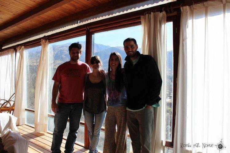 Con Sole y Nacho en su casa de Tafí del Valle
