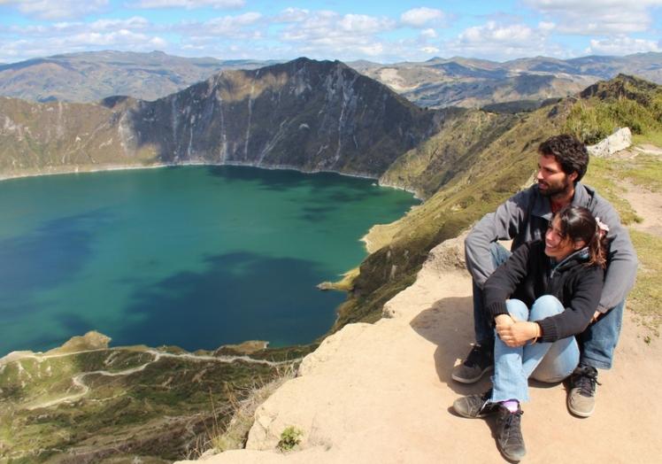 Vista de la Laguna en el Volcán Quilotoa