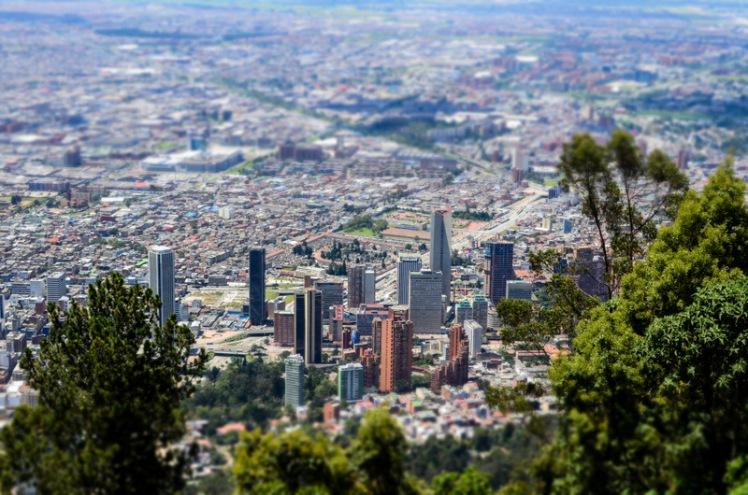 Vista de Bogotá desde el cerro Monserrate.