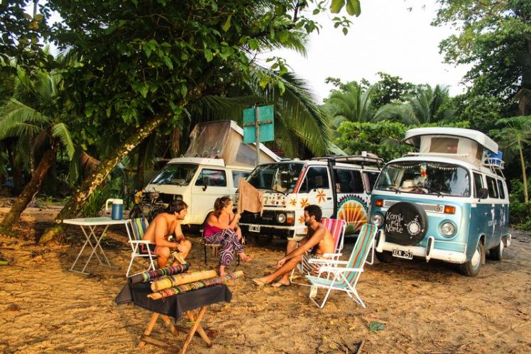 Atardecer en Punta Uva con Mati y Cande de Vía Méjico Cabrones