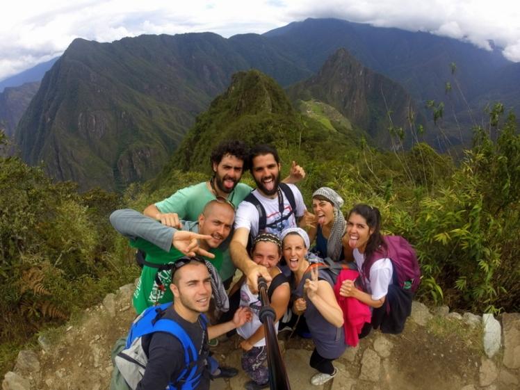 En Machu Picchu con nuevos y grandes amigos