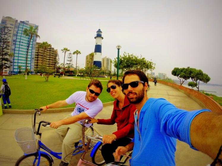 Paseo en bici por Lima con Peter