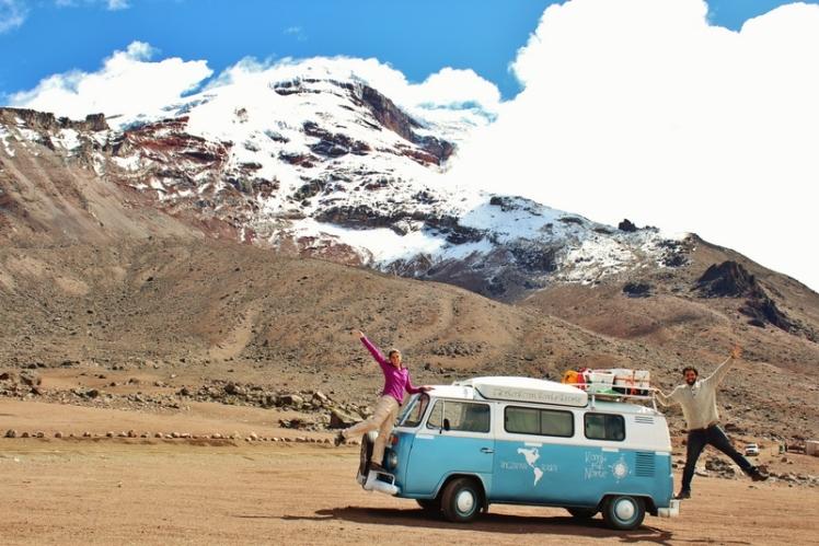 A 4.800 metros de altura en el Volcán Chimborazo
