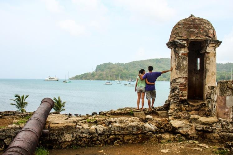 Fuerte de Portobelo en el Caribe panameño