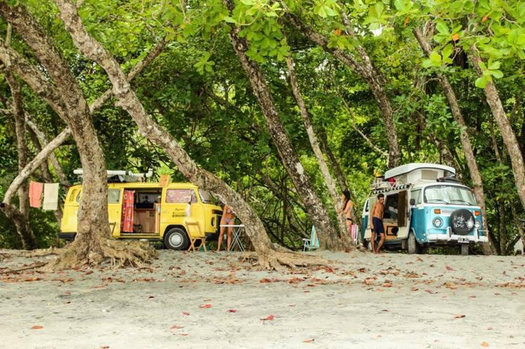 Camping viajero en Manuel Antonio