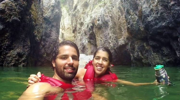 Nadando por el Cañón de Somoto