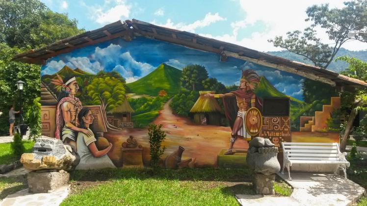Murales en Panchimalco