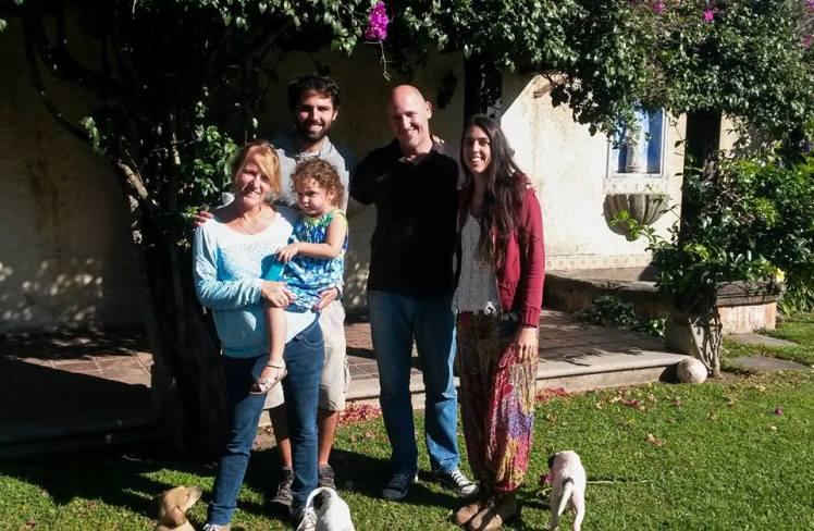 Con Rafa y Agus en su casa de Antigua
