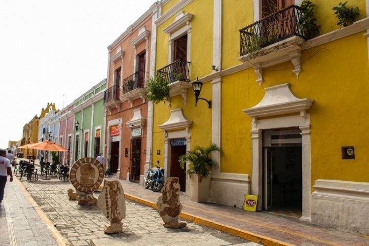 Calle del centro histórico de Campeche
