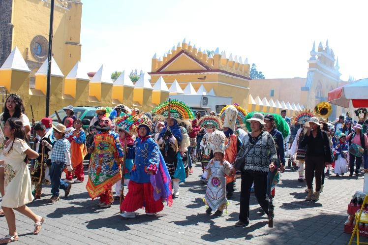 Desfile de carnaval en Cholula