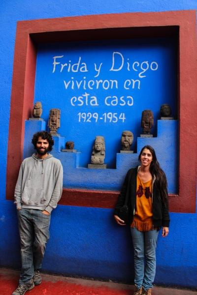 En la casa azul de Frida y Diego en Coyoacán