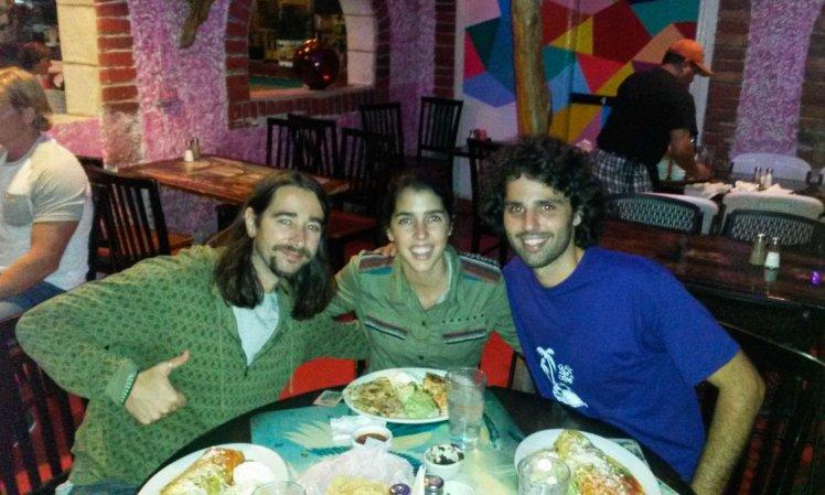 Cena mexicana con David.