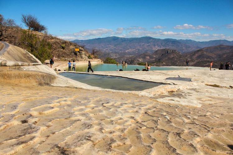 Aguas termales frías en Hierve el Agua, Oaxaca
