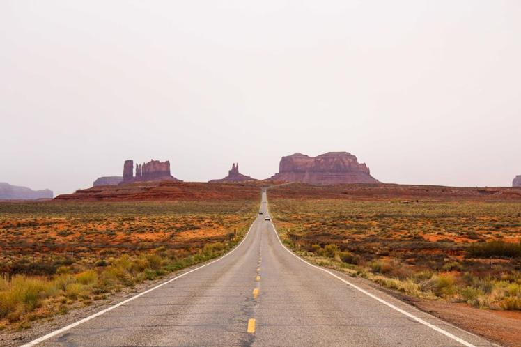 Nosotros llegando a Monument Valley
