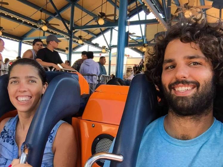 En la montaña Rusa California Screaming en Disney / California Screaming roller coaster at Disney