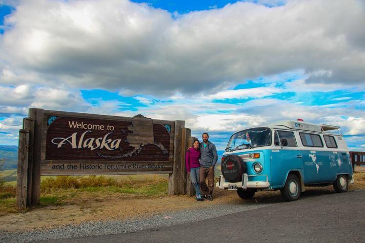 Cartel de salida de Alaska. Adios!!