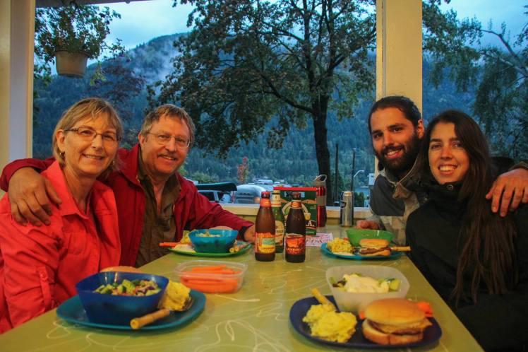 The camping con Lew y Jane