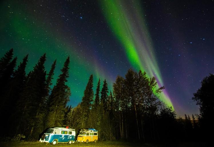 Primera noche de Auroras Boreales en Canadá