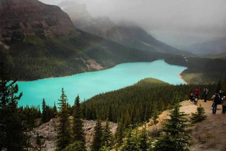 Peytho Lake, uno de los más impresionantes en el Parque Nacional Banff