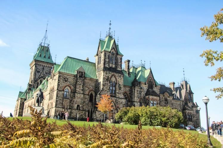 El Parlamento de Ottawa, parece un castillo europeo