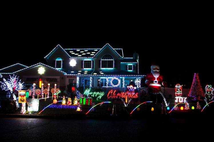 Casas super decoradas para la Navidad