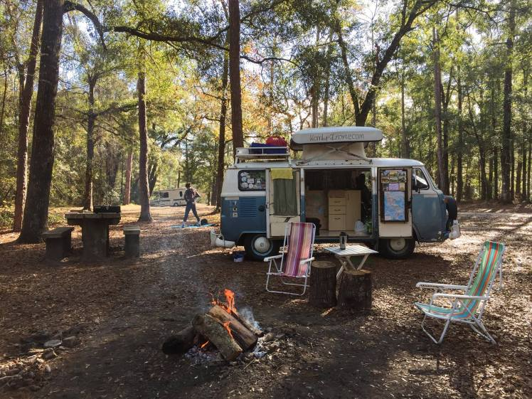 Acampando en el Mario National Forest - South Caroline